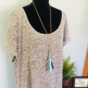 Torrid Gray Marble Print Plus Size Maxi Dress